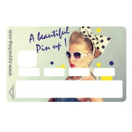 Sticker Credit Card Beautiful Pin Up