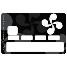 Sticker Credit Card Croix Basque B&W