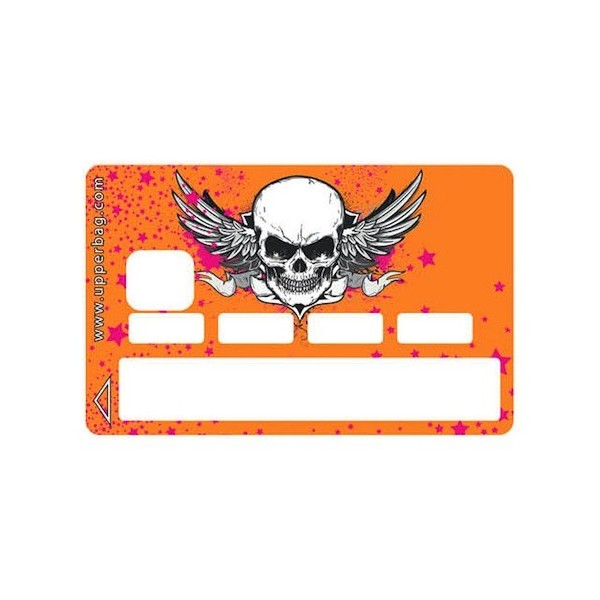 Sticker Credit Card Danger Orange