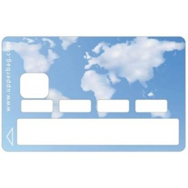 Sticker Credit Card Earth Cloud World