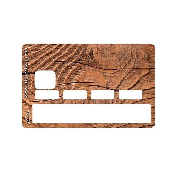 Sticker Credit Card Earth Wood
