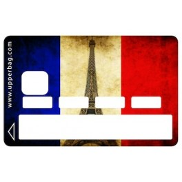Sticker Credit Card French Flag Vintage