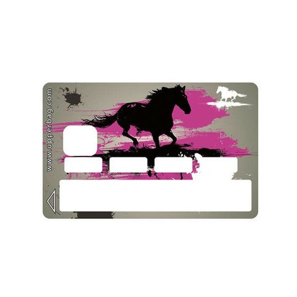 Sticker CB Horse Grey And Pink