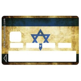 Sticker Credit Card Israelian Flag Vintage