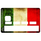 Sticker Credit Card Italian Flag Vintage