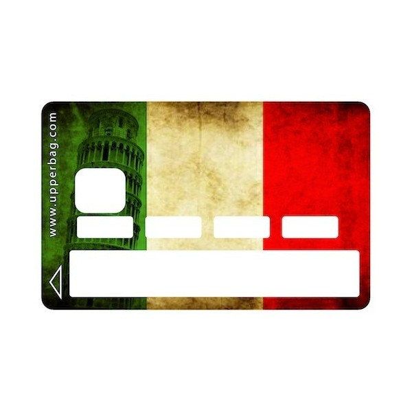 Sticker CB Italian Flag Vintage