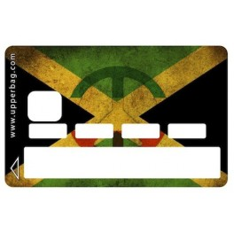 Sticker Credit Card Jamaican Flag Vintage