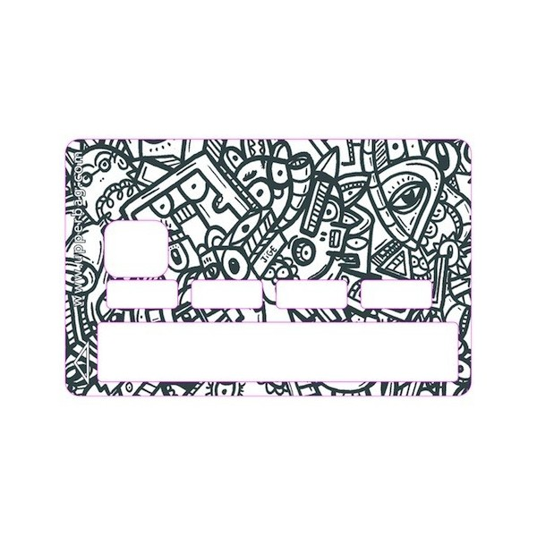 Sticker Credit Card Jigé BW Graphic Arch