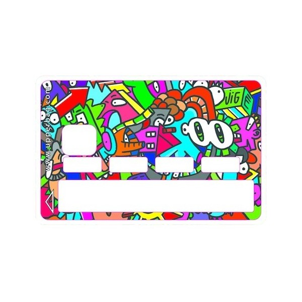 Sticker Credit Card Jigé Color Big eyes