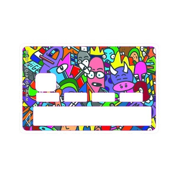 Sticker Credit Card Jigé Color Drinking Cow