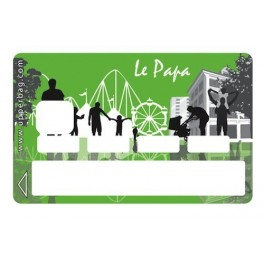 Sticker Credit Card Le Papa