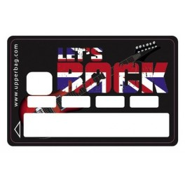 Sticker Credit Card Let's Rock Black
