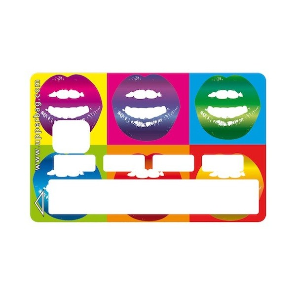 Sticker Credit Card Lips As Warhol