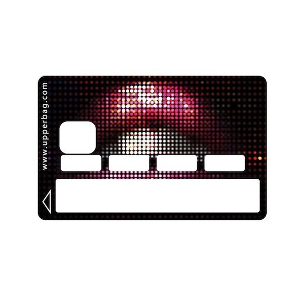 Sticker Credit Card Lips Black