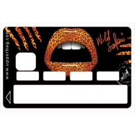 Sticker Credit Card Moatti Lips 3D Leopard