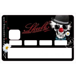 Sticker Credit Card Moatti Skull Clowny