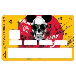 Sticker Credit Card Moatti Skull Mousse Yellow End