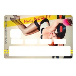 Sticker Credit Card Music Pin Up