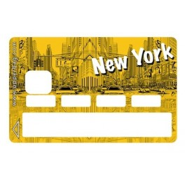 Sticker Credit Card New York Yellow