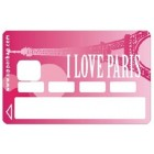 Sticker Credit Card Paris Love