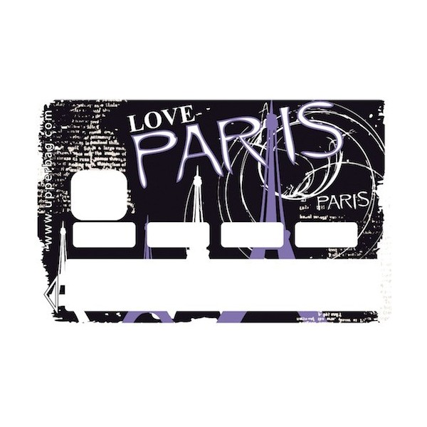 Sticker CB Paris Love Purple