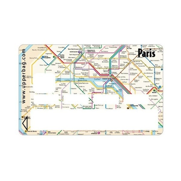 Cards With Subway Map.Sticker Credit Card Paris Subway Map Upperbag