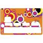 Sticker Credit Card Pop Orange