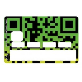 Sticker Credit Card QR Code Green