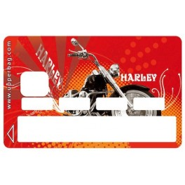 Sticker Credit Card Retro Harley Red