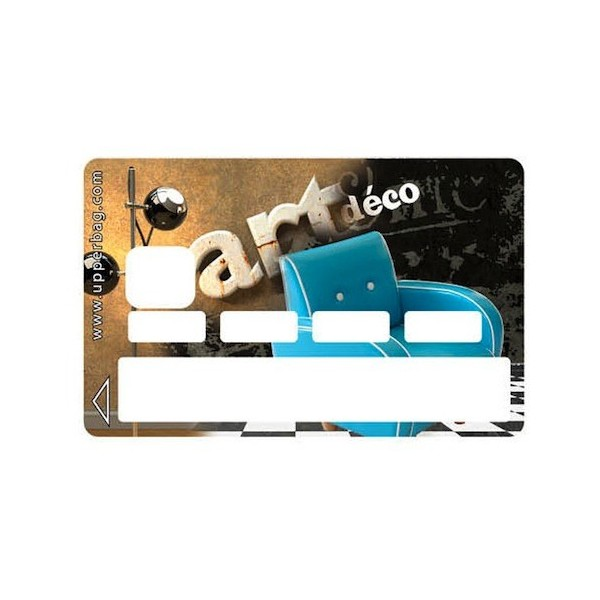dc36d6c40da Sticker Credit Card Sofa Art Déco - Upperbag