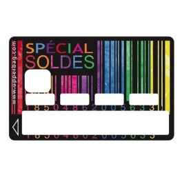 Sticker Credit Card Soldes Black