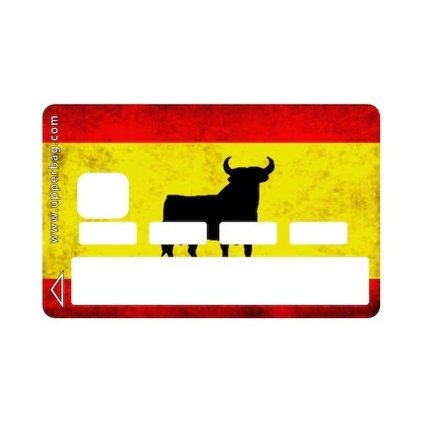 Sticker Credit Card Spanish Flag Vintage