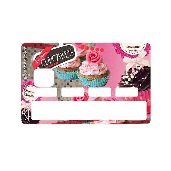 Sticker Credit Card Sweety Cupcakes Vintage