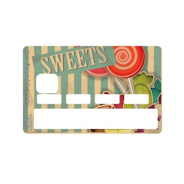 Sticker Credit Card Sweety Lollipops Vintage