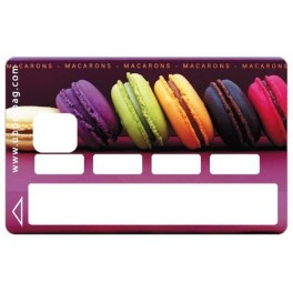 Sticker Credit Card Sweety Macarons 1