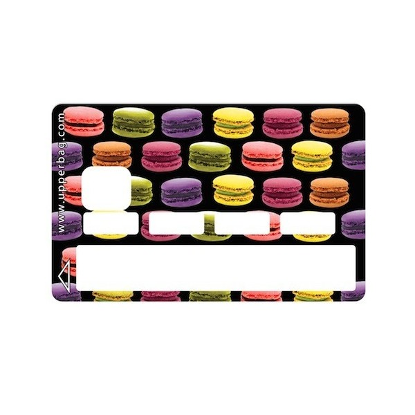 Sticker Credit Card Sweety Macarons Black