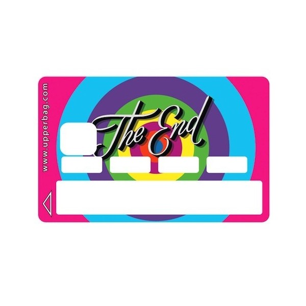 Sticker Credit Card The End Colors