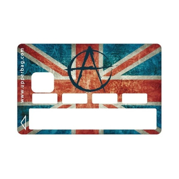 Sticker CB UK Flag & Anarchy