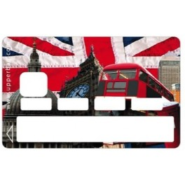 Sticker Credit Card UK Flag & London Symbols