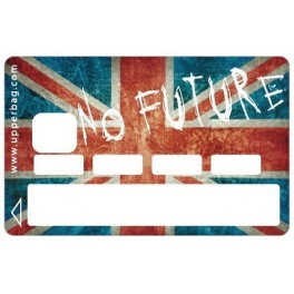 Sticker CB UK Flag Vintage & No Future