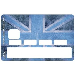 Sticker CB UK Flag Vintage & Blue