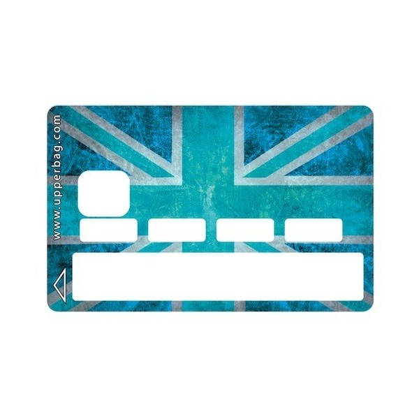 Sticker CB UK Flag Vintage & Turquoise