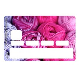Sticker Credit Card Wool Ball