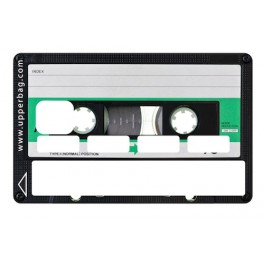 Sticker Credit Card Vintage Music K7 Green