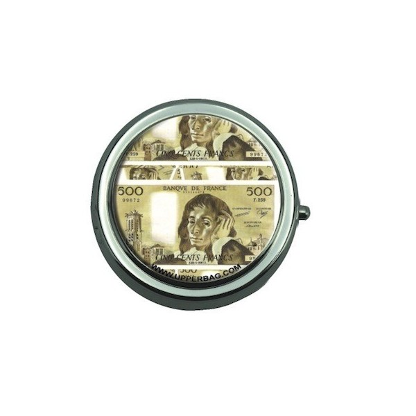 Pill Box with Mirror 500 Francs