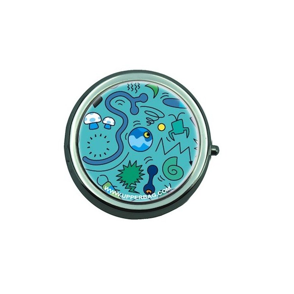 Pill Box with Mirror Ben Comic Turquoise
