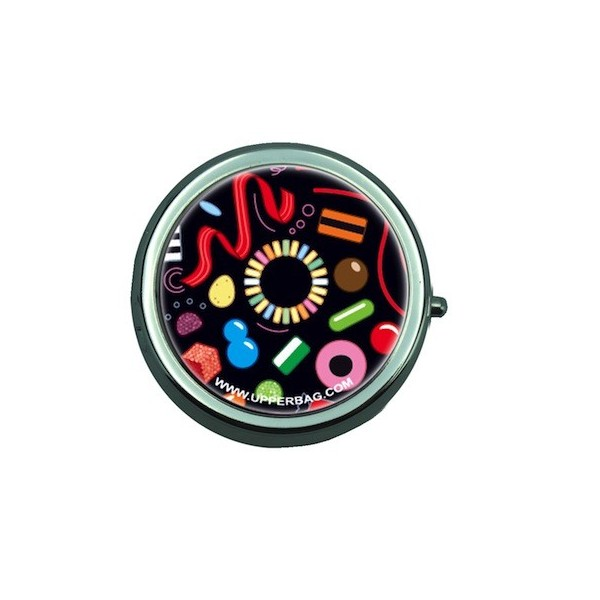 Pill Box with Mirror Ben Sweety Black