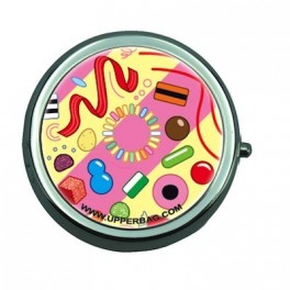 Pill Box with Mirror Ben Sweety Pink & Yellow