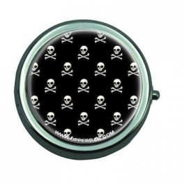 Pill Box with Mirror Danger Black