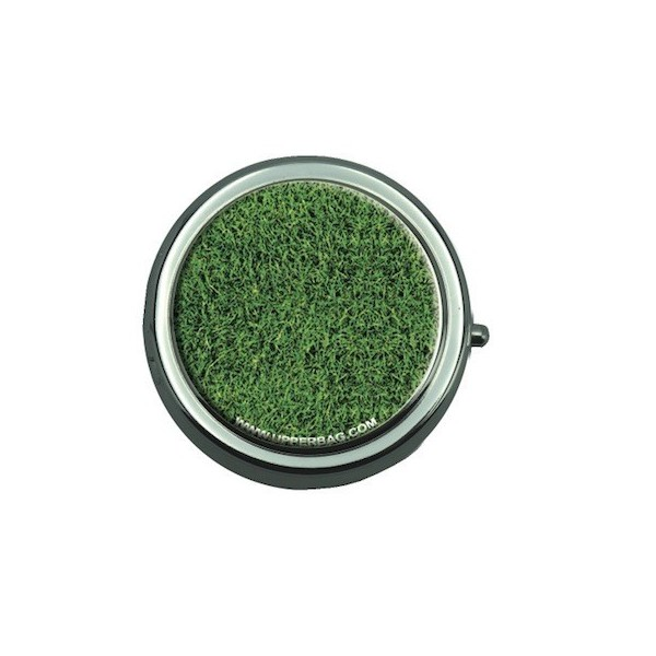 Pill Box with Mirror Earth Grass
